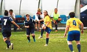 b masera calcio maglia gialla