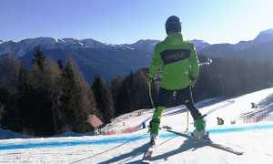 sci sciatore spalle generica gare
